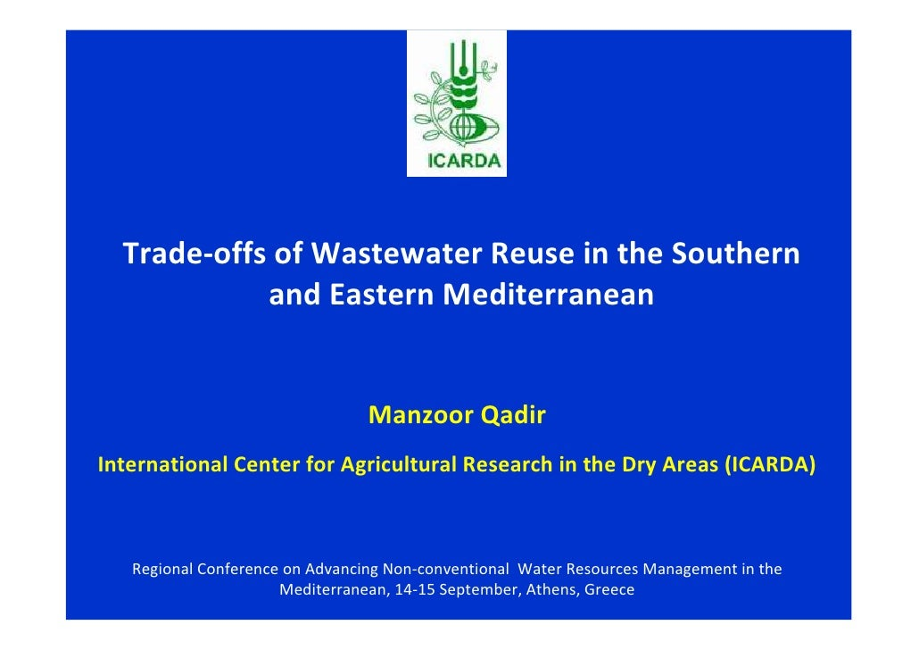 Trade-offs of Wastewater Reuse in the Southern            and Eastern Mediterranean                                 Manzoo...