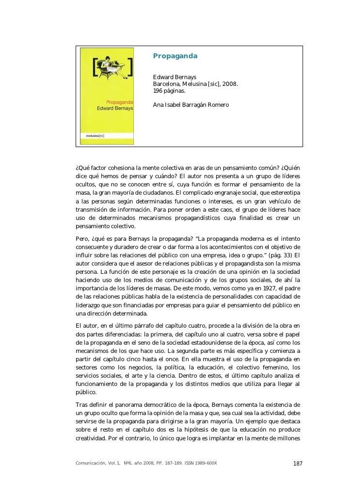 Propaganda                                  Edward Bernays                                  Barcelona, Melusina [sic], 200...