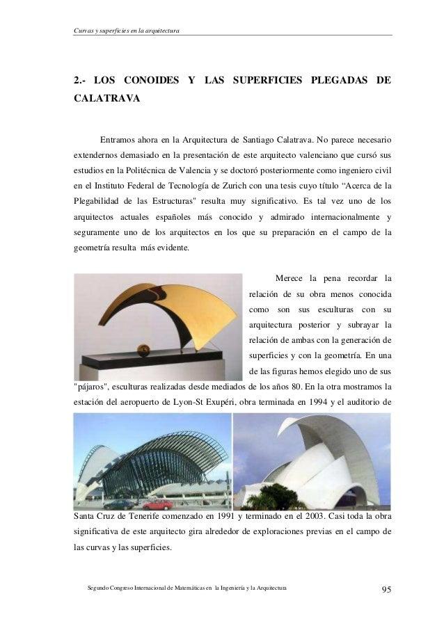 Curvas y superficies en la arquitectura for Arquitectos espanoles actuales