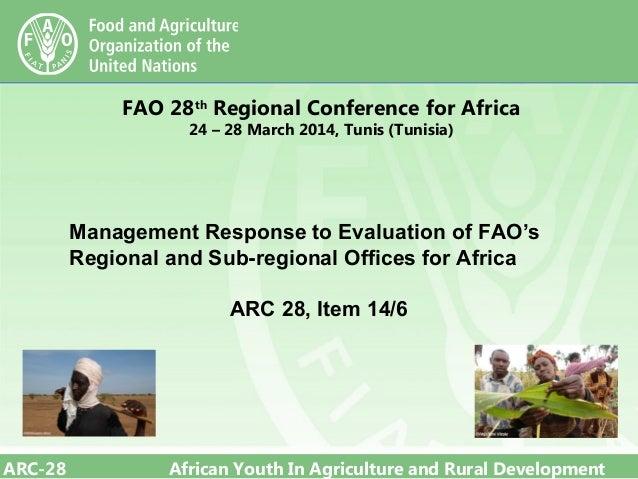 28th FAO ARC: Management response