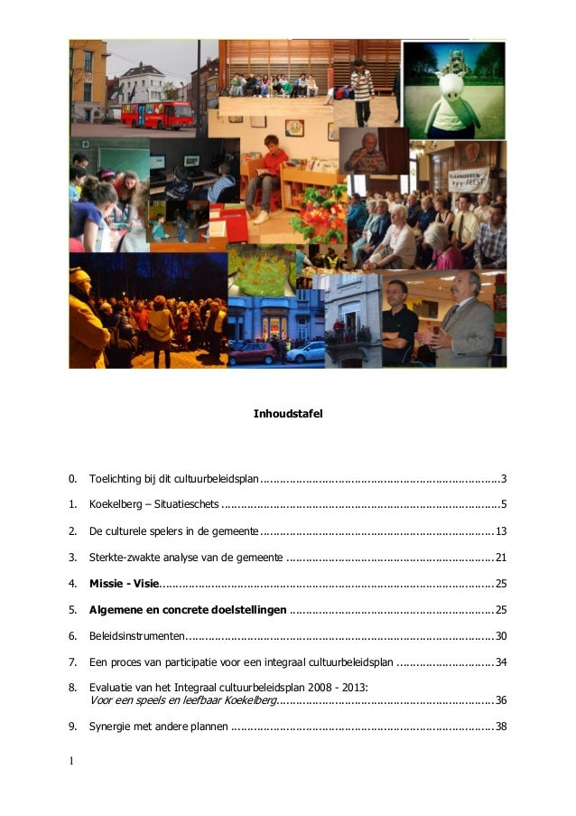 Koekelberg : Integraal cultuurbeleidsplan 2014-2019