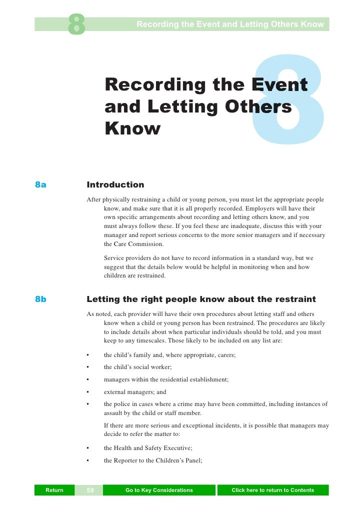 8                     Recording the Event and Letting Others Know     8a                     Recording the Event          ...