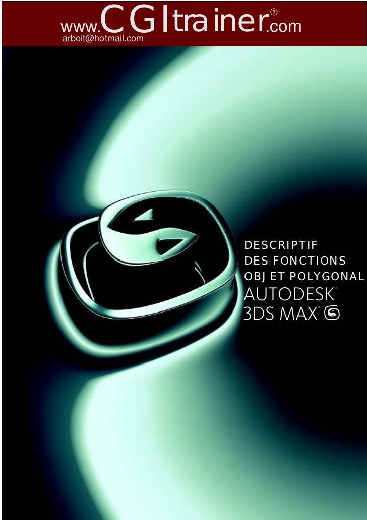 www.    CGItrainer.comarboit@hotmail.com                     DESCRIPTIF                     DES FONCTIONS                 ...