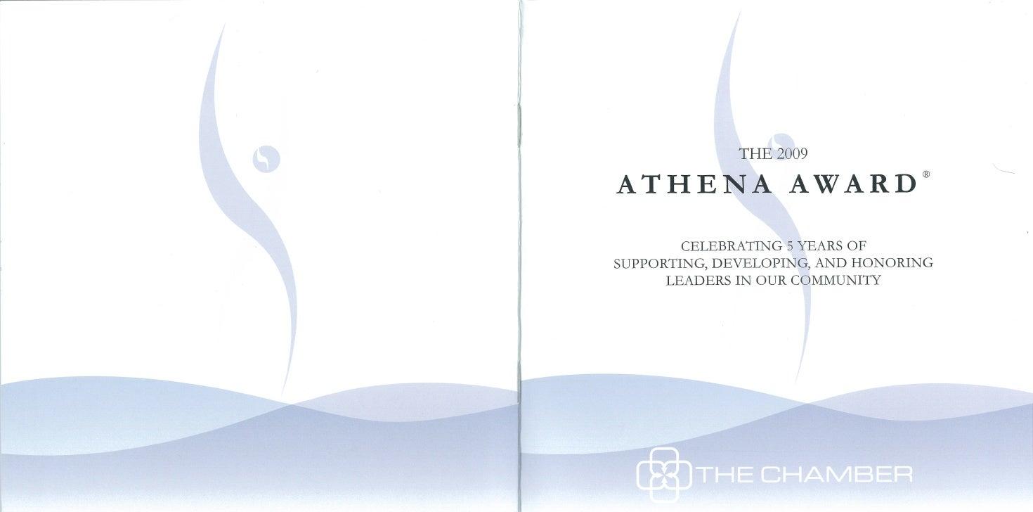 Event program for awards ceremony/scholarship program