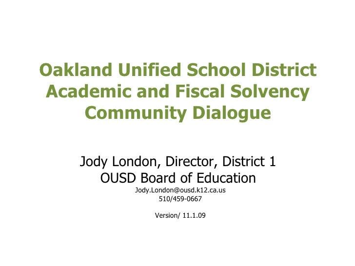 009 11 01 London Presentation Deckfor Academic Fiscal Solvency