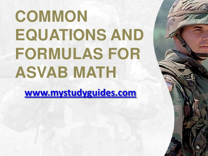 009 common equations and formulas for asvab math