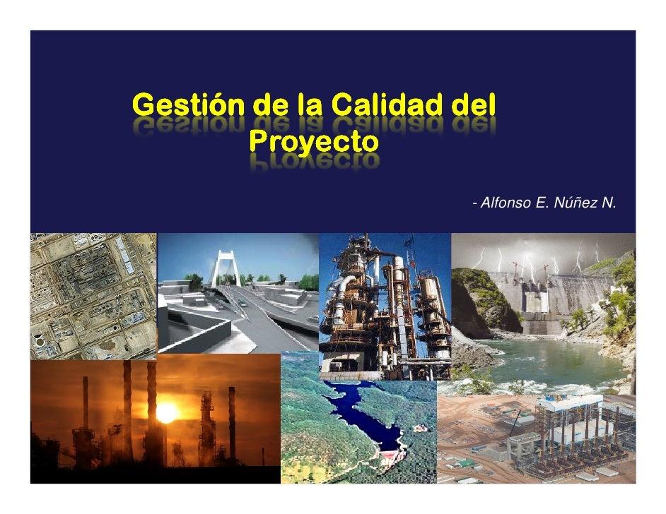 Gestión de la Calidad del        Proyecto                        - Alfonso E. Núñez N.