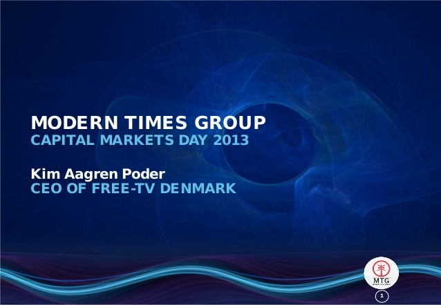 11MODERN TIMES GROUPCAPITAL MARKETS DAY 2013Kim Aagren PoderCEO OF FREE-TV DENMARK