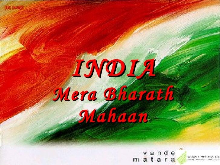 INDIA Mera Bharath Mahaan