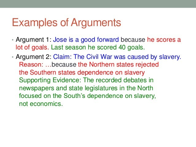 Good Argument Essay Example