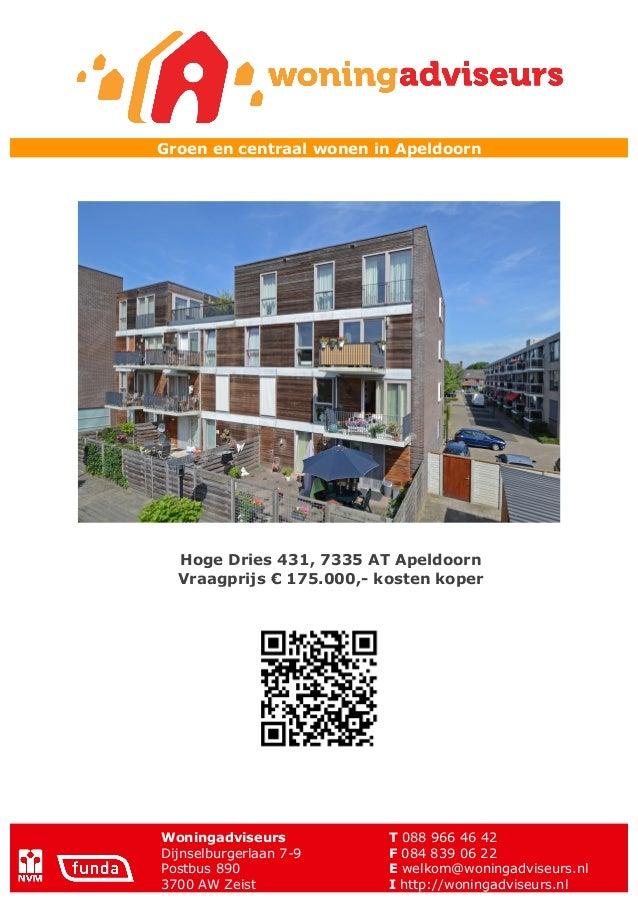 Brochure Hoge Dries 431 te Apeldoorn