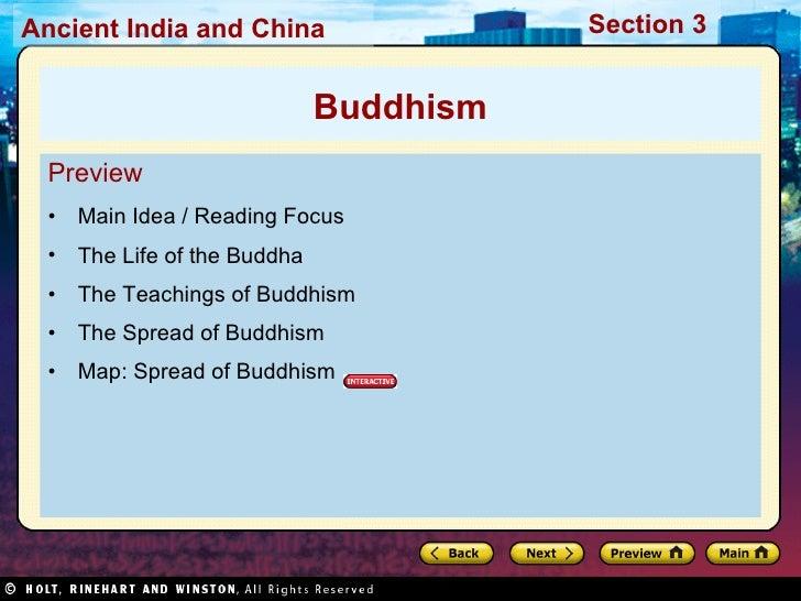 <ul><li>Preview </li></ul><ul><li>Main Idea / Reading Focus </li></ul><ul><li>The Life of the Buddha </li></ul><ul><li>The...