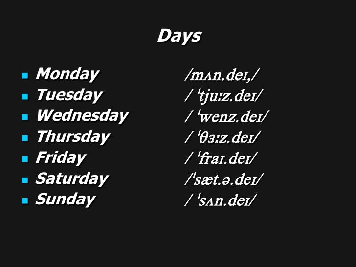 dates and ordinal numbers
