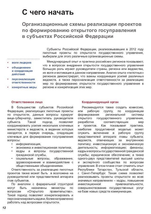 схемы реализации проектов