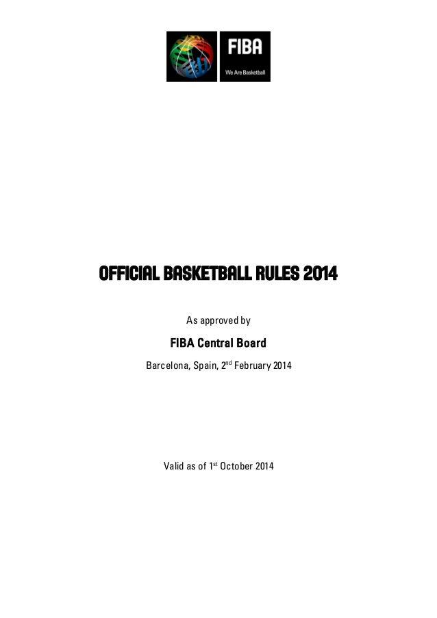 FIBA Official Basketball Rules 2014