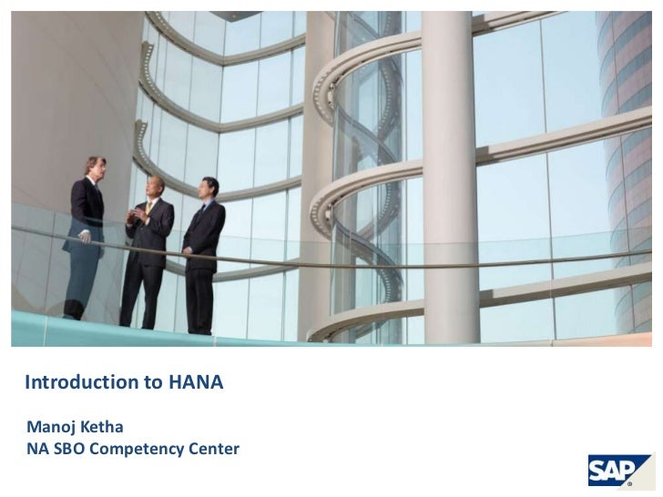 Introduction to HANA in-memory from SAP