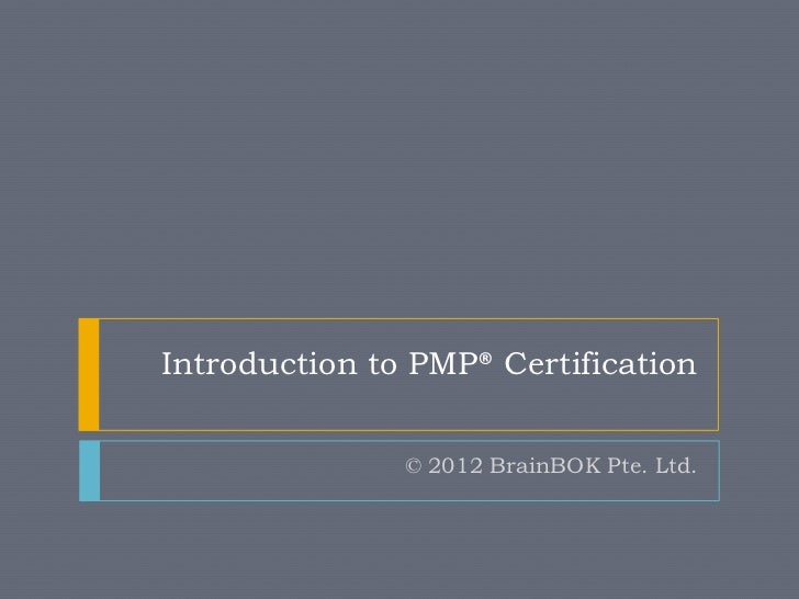 Introduction to PMP Certification