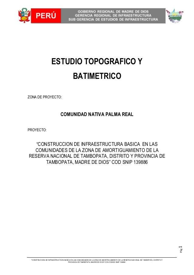 """""""CONSTRUCCION DE INFRAESTRUCTURA BASICA EN LAS COMUNIDADES DE LA ZONA DE AMORTIGUAMIENTO DE LA RESERVA NACIONAL DE TAMBOPA..."""