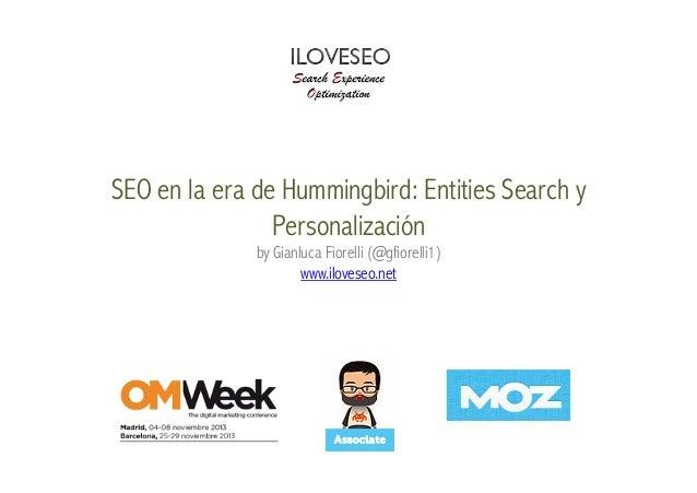 SEO en la era de Hummingbird - Entities y personalización de las búsquedas