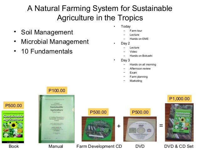 A Natural Farming System for Sustainable                  Agriculture in the Tropics                                      ...