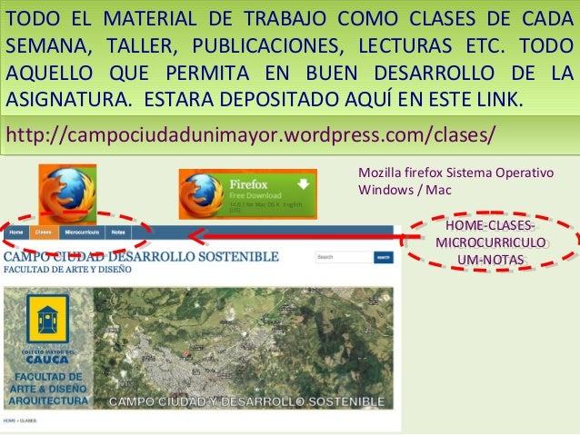 TODO EL MATERIAL DE TRABAJO COMO CLASES DE CADA TODO EL MATERIAL DE TRABAJO COMO CLASES DE CADA SEMANA, TALLER, PUBLICACIO...