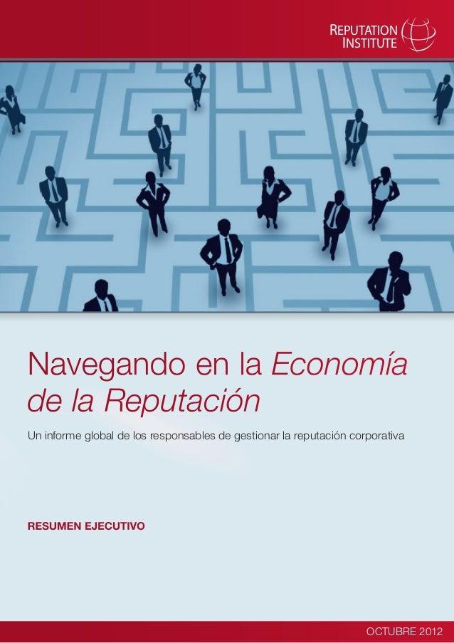 """Resumen Ejecutivo: """"Navegando en la economía de la reputación"""""""