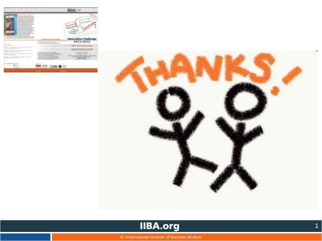 © International Institute of Business Analysis 1