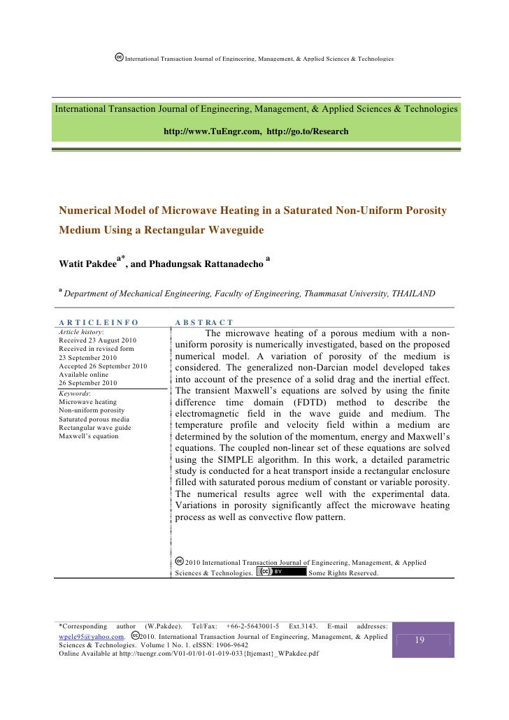 International Transaction Journal of Engineering, Management, & Applied Sciences & TechnologiesInternational Transaction J...