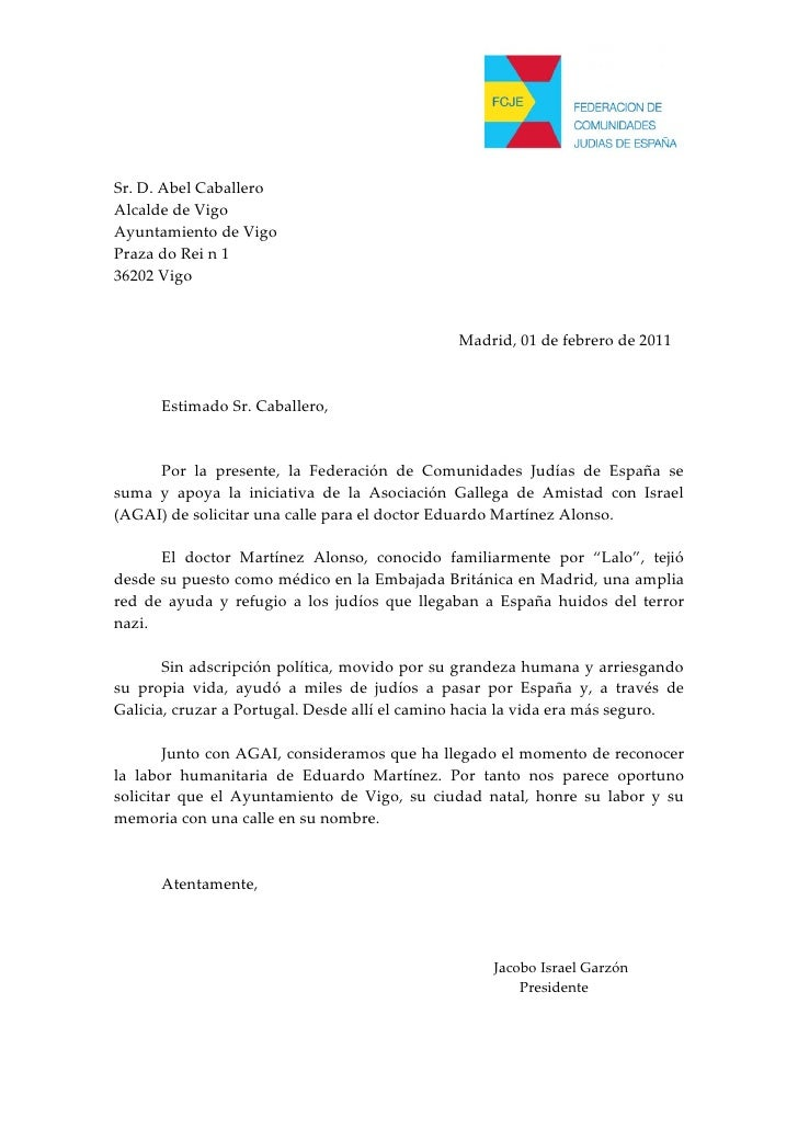 Carta ao Alcalde de Vigo