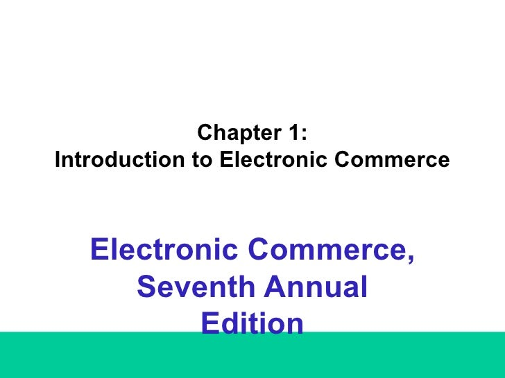 E-Business First Chapter