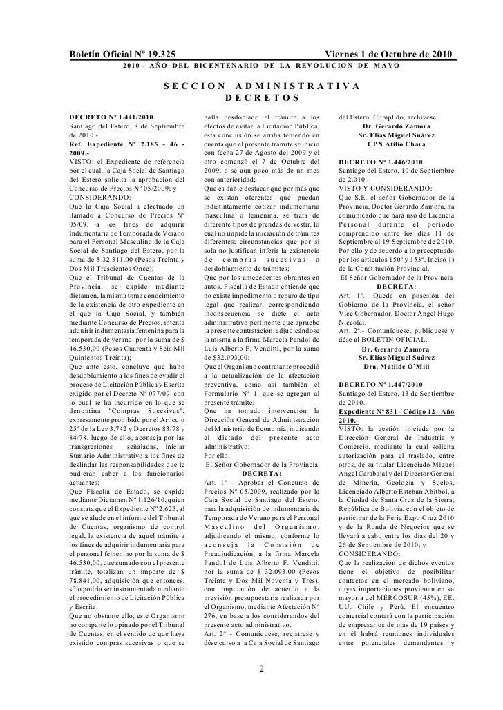 Boletín Oficial Nº 19.325                                                            Viernes 1 de Octubre de 2010         ...