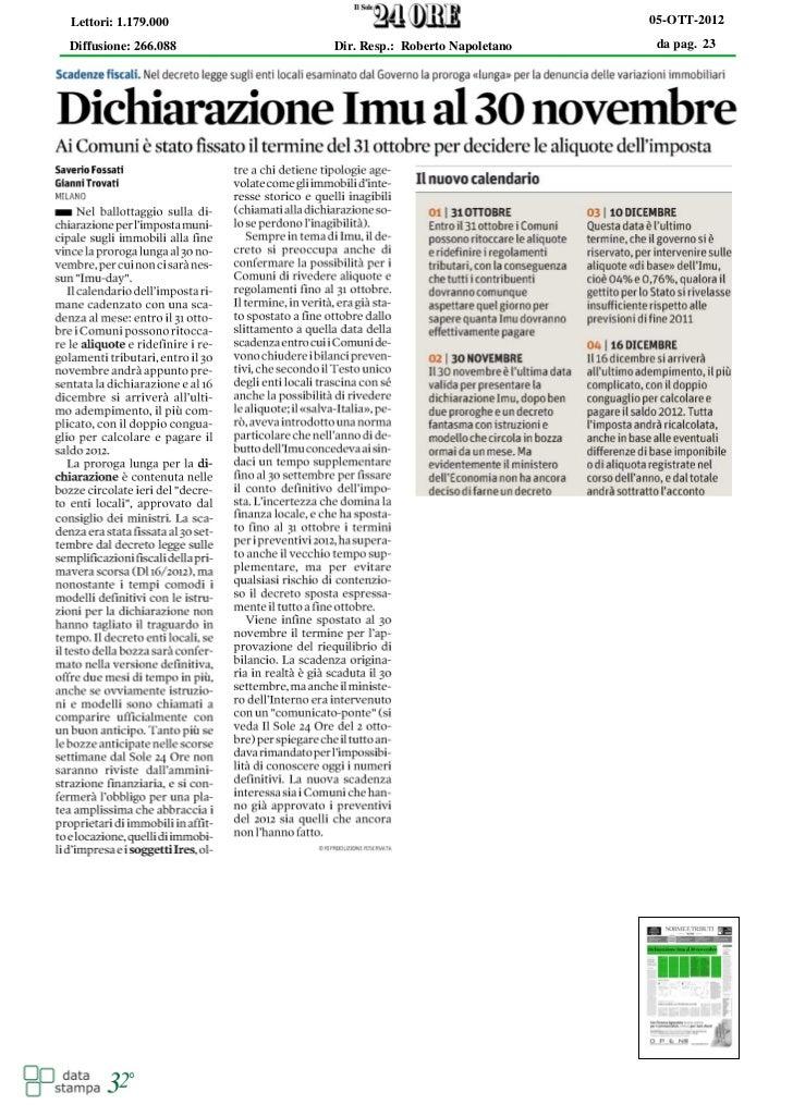 Lettori: 1.179.000                                     05-OTT-2012Diffusione: 266.088   Dir. Resp.: Roberto Napoletano   d...
