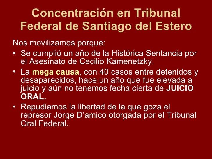Movilizaci 243 N Al Juzgado Federal
