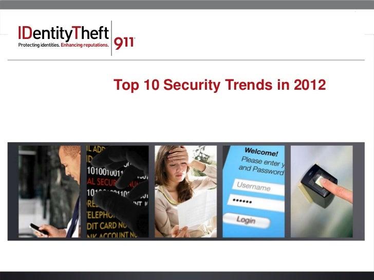 Top 10 Security Trends of 2012