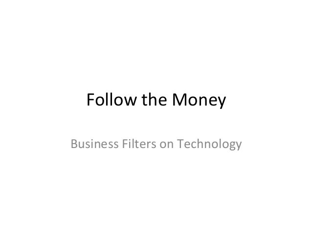 CIS13: Follow the Money
