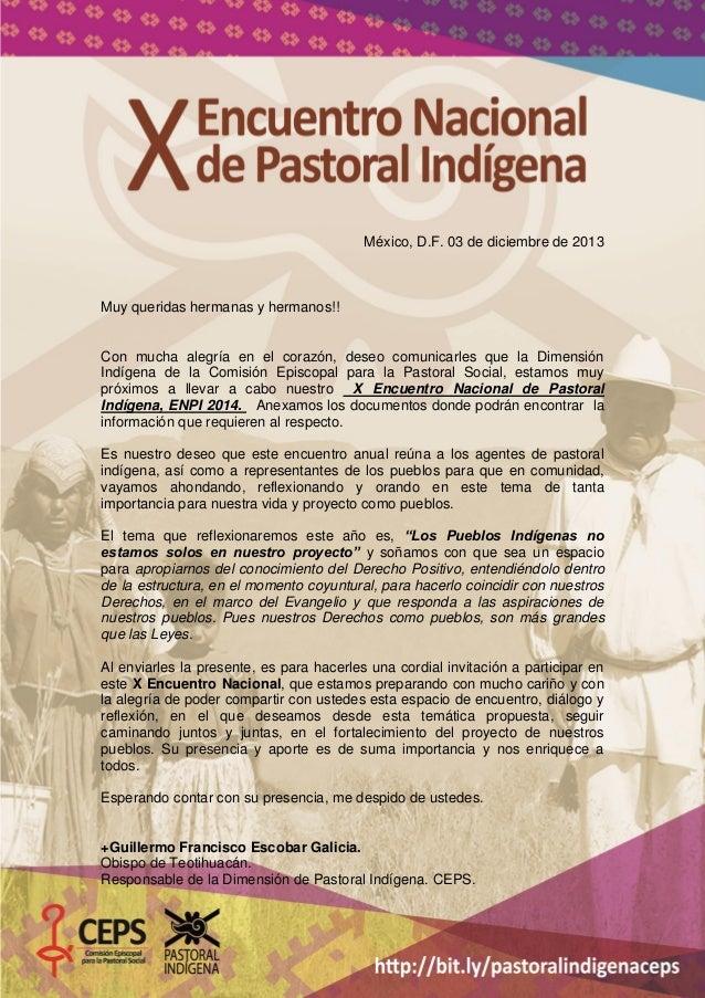 México, D.F. 03 de diciembre de 2013  Muy queridas hermanas y hermanos!!  Con mucha alegría en el corazón, deseo comunicar...
