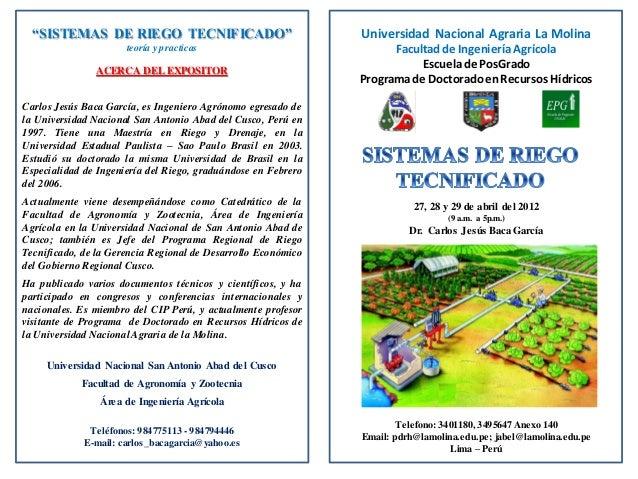 Universidad Nacional Agraria La Molina Facultadde IngenieríaAgrícola Escuelade PosGrado Programade DoctoradoenRecursos Híd...