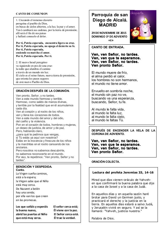 Rito Del Matrimonio Catolico Fuera De La Misa : Cantos misa matrimonio catolico de navidad hoja