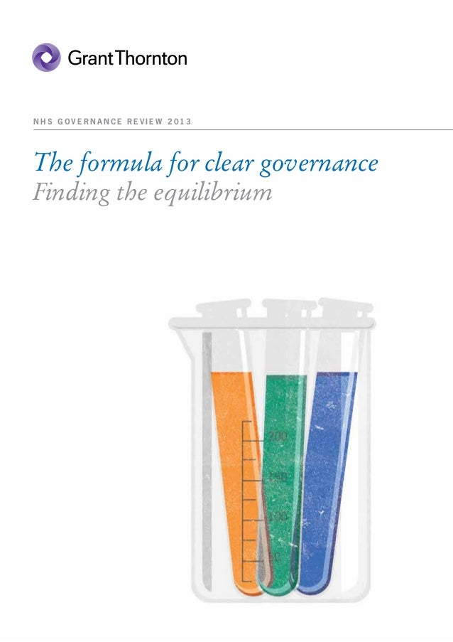 NHS GOVERNANCE REVIEW 2013The formula for clear governanceFinding the equilibrium