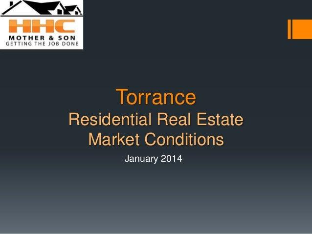 January 2014 Torrance Real Estate Market Trends Update