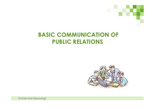 Basic Communication of Public Relations