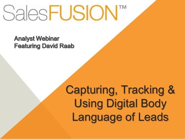 SalesFUSION Webinars - Taming the flood of digital data