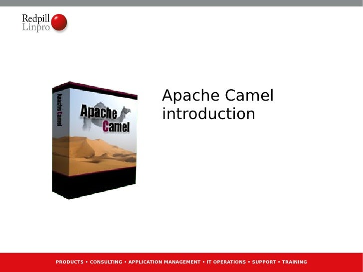 REDPILL LINPROSWATCompetence Gathering #1            Apache CamelApril 2011                         introductionPRODUCTS •...