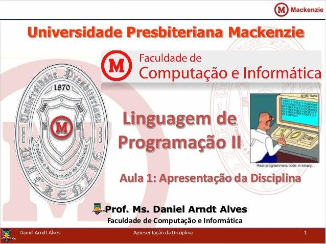 Linguagem de Programação II - Apresentação da Disciplina