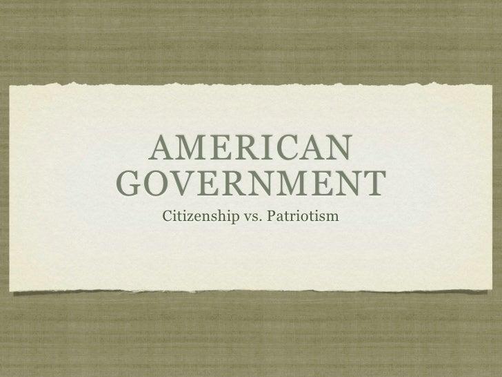 01 - Citizenship vs. Patriotism