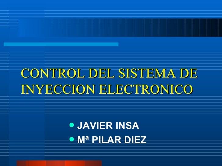 01 Control InyeccióN ElectróNica