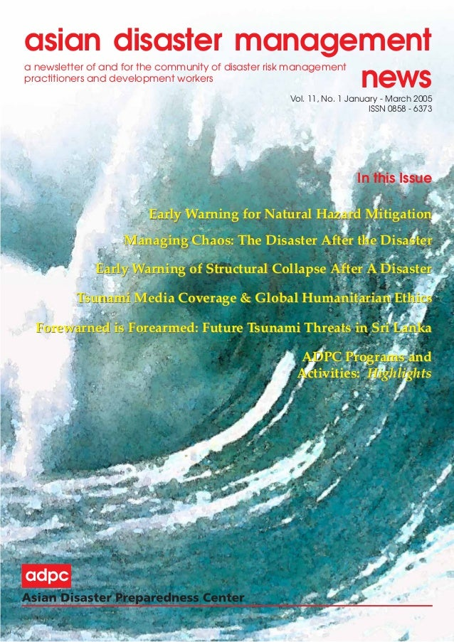 Thesis topic natural disaster