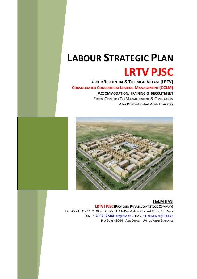 LABOUR STRATEGIC PLAN LRTV PJSC LABOUR RESIDENTIAL & TECHNICAL VILLAGE {LRTV} CONSOLIDATED CONSORTIUM LEADING MANAGEMENT (...