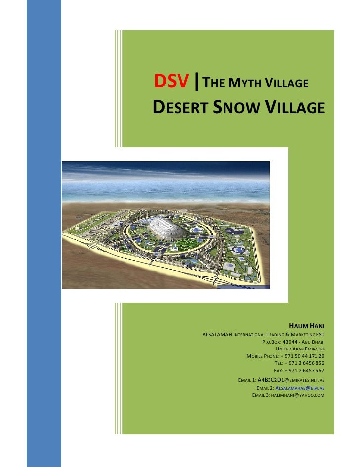 Halim Hani-HH-RealEstate-DSV0001-Desert Snow Village-General Finance