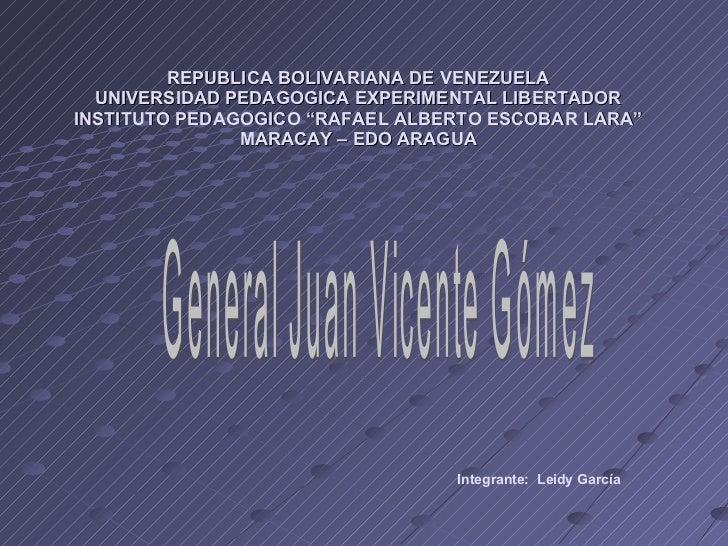 "REPUBLICA BOLIVARIANA DE VENEZUELA UNIVERSIDAD PEDAGOGICA EXPERIMENTAL LIBERTADOR INSTITUTO PEDAGOGICO ""RAFAEL ALBERTO ESC..."
